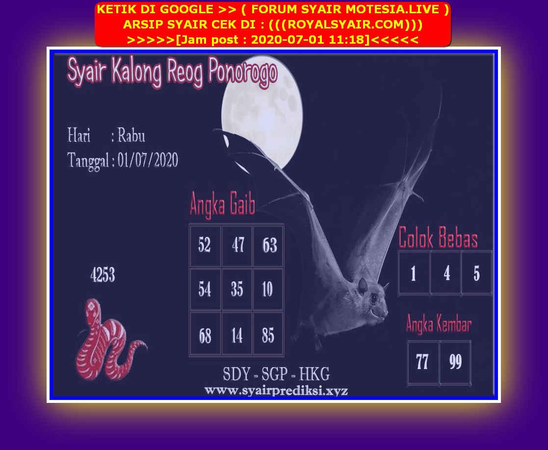 Kode syair Singapore Rabu 1 Juli 2020 174