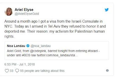 Israel impede entrada de ativista americana judia que apoia boicote