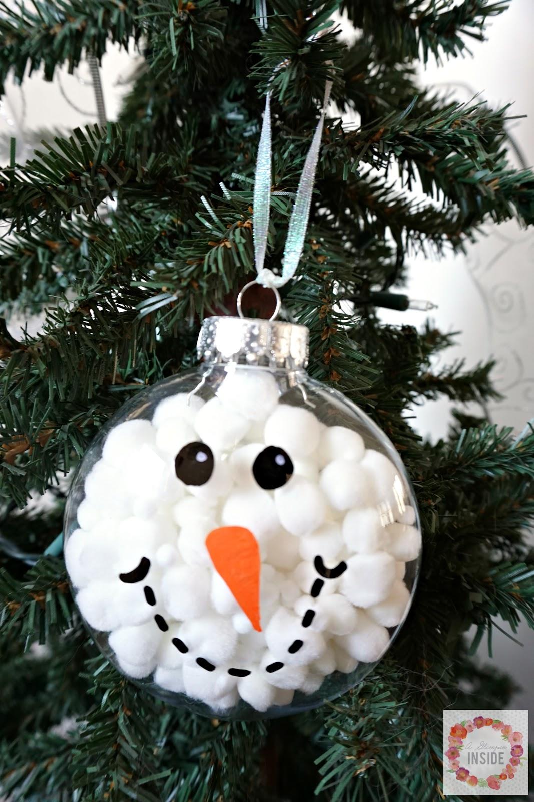 Easy Snowman Snack: Easy Snowman Ornament