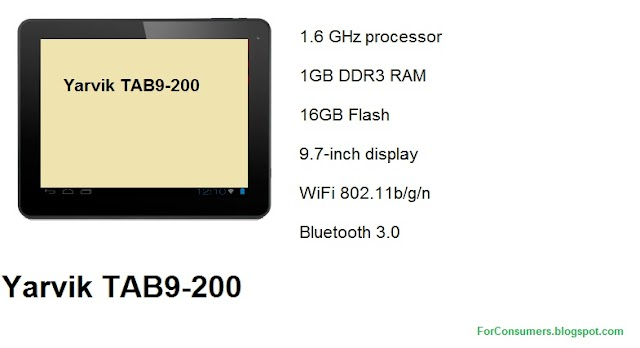 Yarvik TAB9-200 Android tablet specs