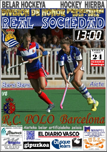 Cartel hockey 2016-04-24 Real Sociedad - R.C. Polo Barcelona