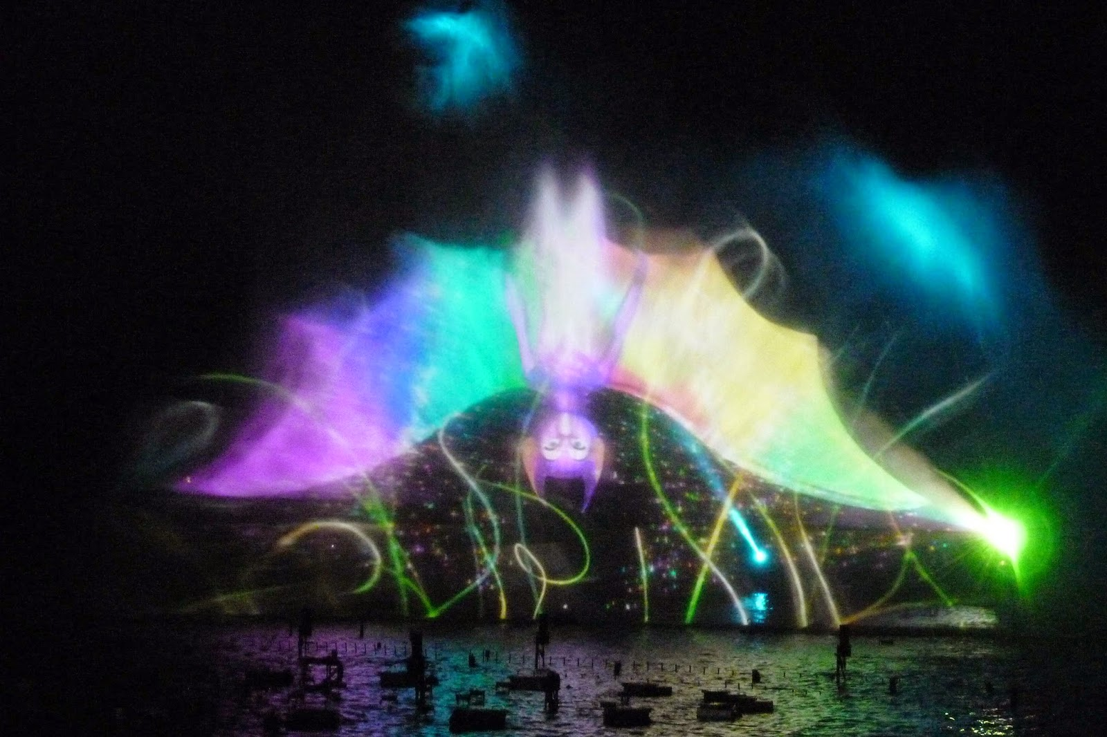 Espectáculo nocturno Lady Ô, Futuroscope.
