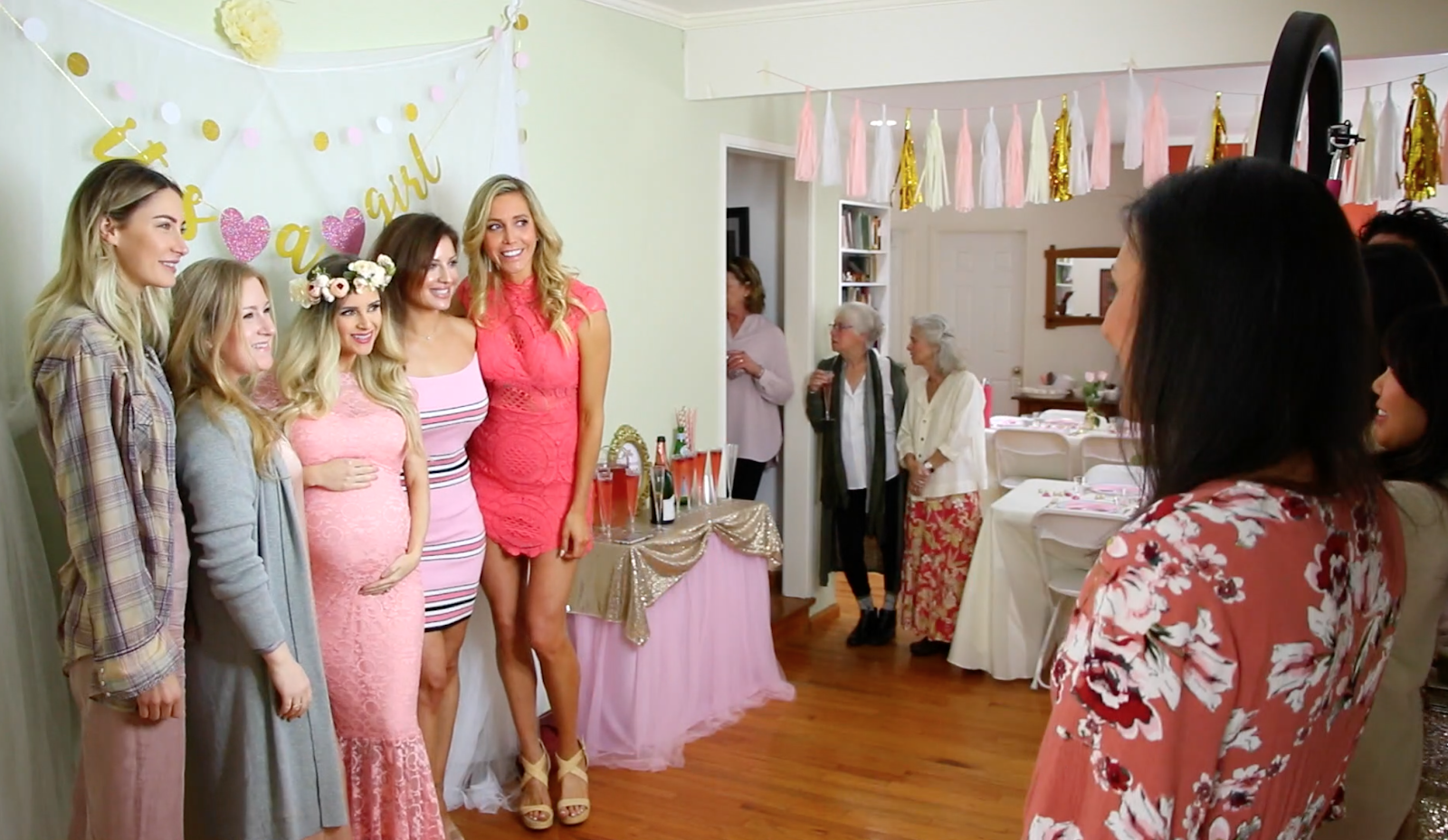 bridal shower decoration ideas homemade.htm video  diy pink   gold girl baby shower on a budget  behind the  video  diy pink   gold girl baby shower