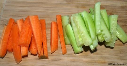 Bastones de zanahoria y pepino HortoGourmet