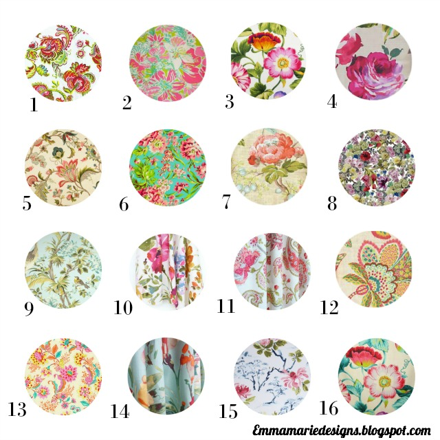 My favorite Floral Fabrics, tips, and tricks in using them. Emmamariedesigns.blogspot.com