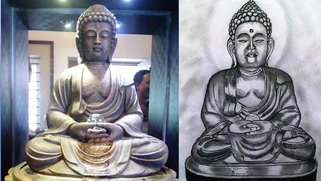 PENCIL DRAWING - Gautama Buddha