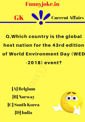 Which country is the global host nation for the 43rd edition of World Environment Day (WED -2018) event?