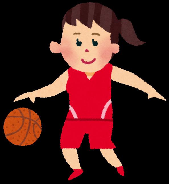 女子バスケットボール選手のイラスト かわいいフリー素材集 いらすとや
