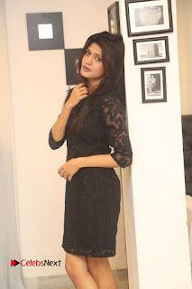 Actress Kimaya Phtoos in Black Short Dress at Kotha Kothaga Unnadi Press Meet 0008