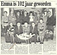 Emma Goemaere, gevierd als 102-jarige