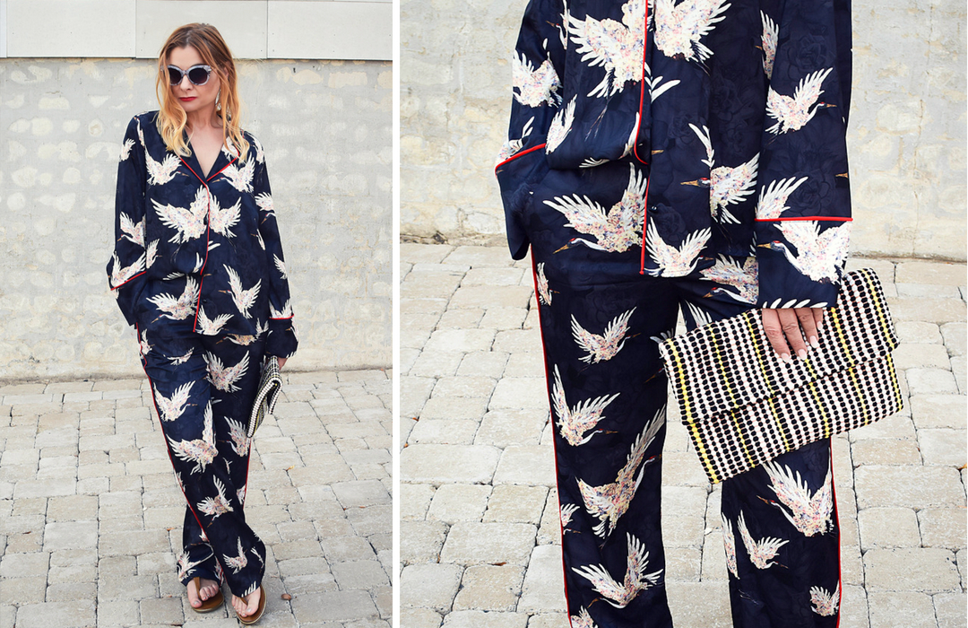 Streetstyle mit Pyjama Outfit, Pyjama Look