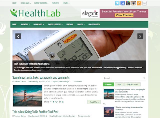 HealthLab Blogger Template