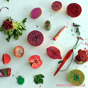 CreaKids: pintamos con fruta y verdura