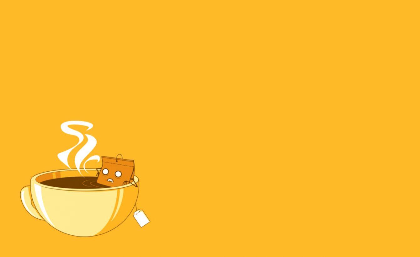 Yellow Simple Wallpaper Desktop Look Wallpapers