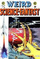 Weird Science-Fantasy v1 #28 ec comic book cover art by Al Feldstein