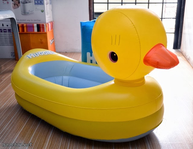 Baby Martin's New Yellow Duckie Float