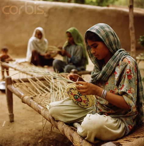 Girls life in Pakistan villages - Pakistani girls are busy in works in villages