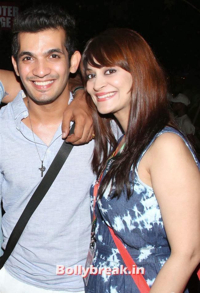 Arjun Bijlani With Candy Brar