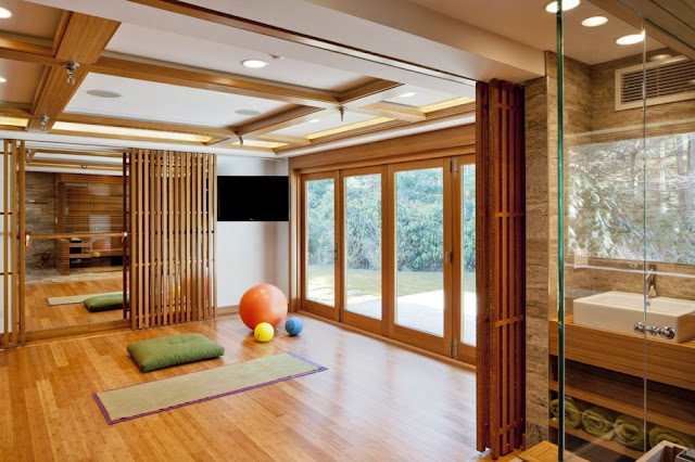 yoga exercise room in Chestnut Hill Residence