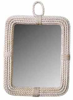 White Square Rope Mirror