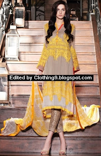 Firdous Eid Chiffon Dress Festive Collection 2015