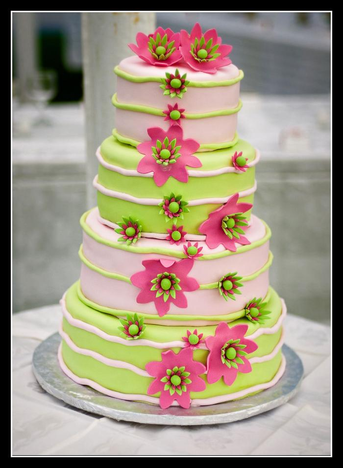 pink and lime green wedding cakes wedding ideas bright pink and lime green wedding 18551