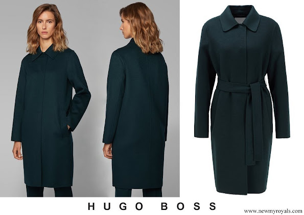 Princess Marie wore Hugo Boss Relaxed-fit coat