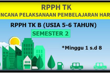RPPH TK-B Semester 2 Minggu 1 s/d 8 Kurikulum 2013