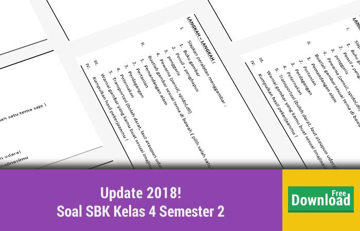 Soal SBK Kelas 4 Semester 2