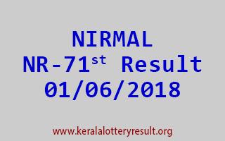 NIRMAL Lottery NR 71 Result 01-06-2018