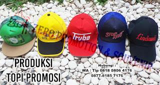 topi promosi, topi katun, topi raphel, topi kanvas, topi standard, topi perusahaan, topi setengah jala, topi golf, topi custom