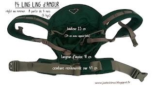 terst avis P4 préformé ling ling d'amour LLA portage porte-bébé réglable bébé 3 ans