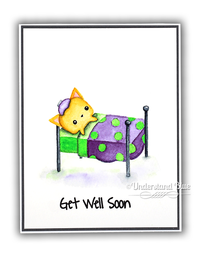 Get Well Soon Card with Waffle Flower by Understand Blue