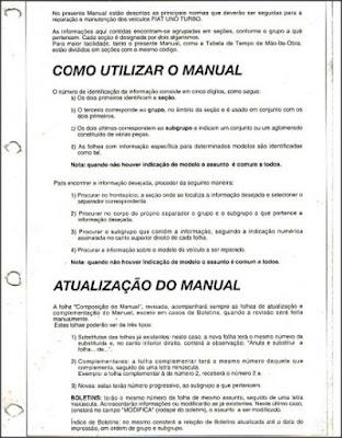 Manual de reparações Fiat Uno Turbo