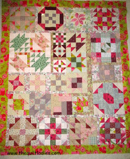 Fifty-two weeks of Quilt Pattern Block Tutorial how to put a quilt together