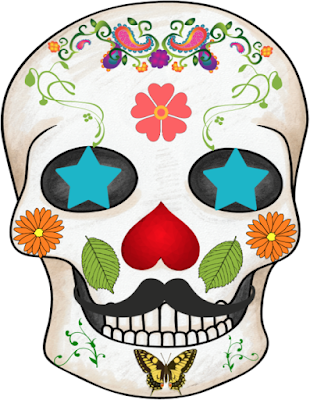 a completed sugar skull example