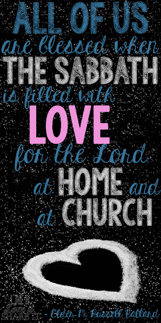 All of us are blessed when the Sabbath is filled with love for the Lord at home and at church. - M. Russell Ballard