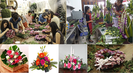 Kết quả hình ảnh cho học cắm hoa