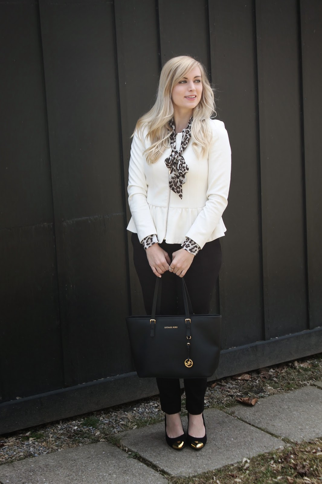 what to wear with a peplum blazer