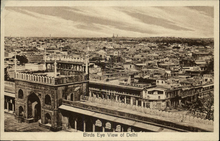 Birds Eye View of Delhi - c1910