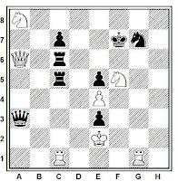 Problema de ajedrez el signo de la Cruz, Gumpel (1878)