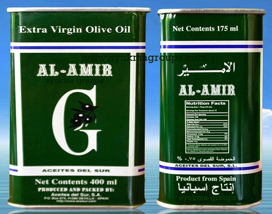 Minyak Zaitun Kaleng AL AMIR (175 ml)