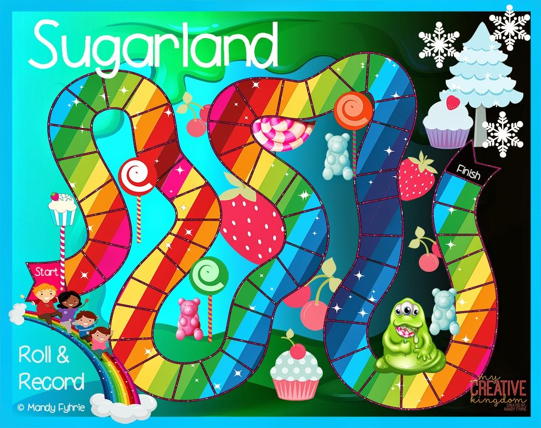 Kindergarten Castles Sugarland Board Game Printable Freebie
