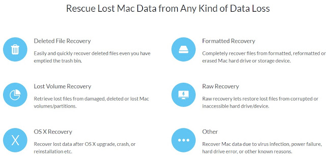 Reliable Mac data recovery software helps recover deleted or lost files from Mac notebooks, desktops, SD card, USB drive, external disk or other storage device.