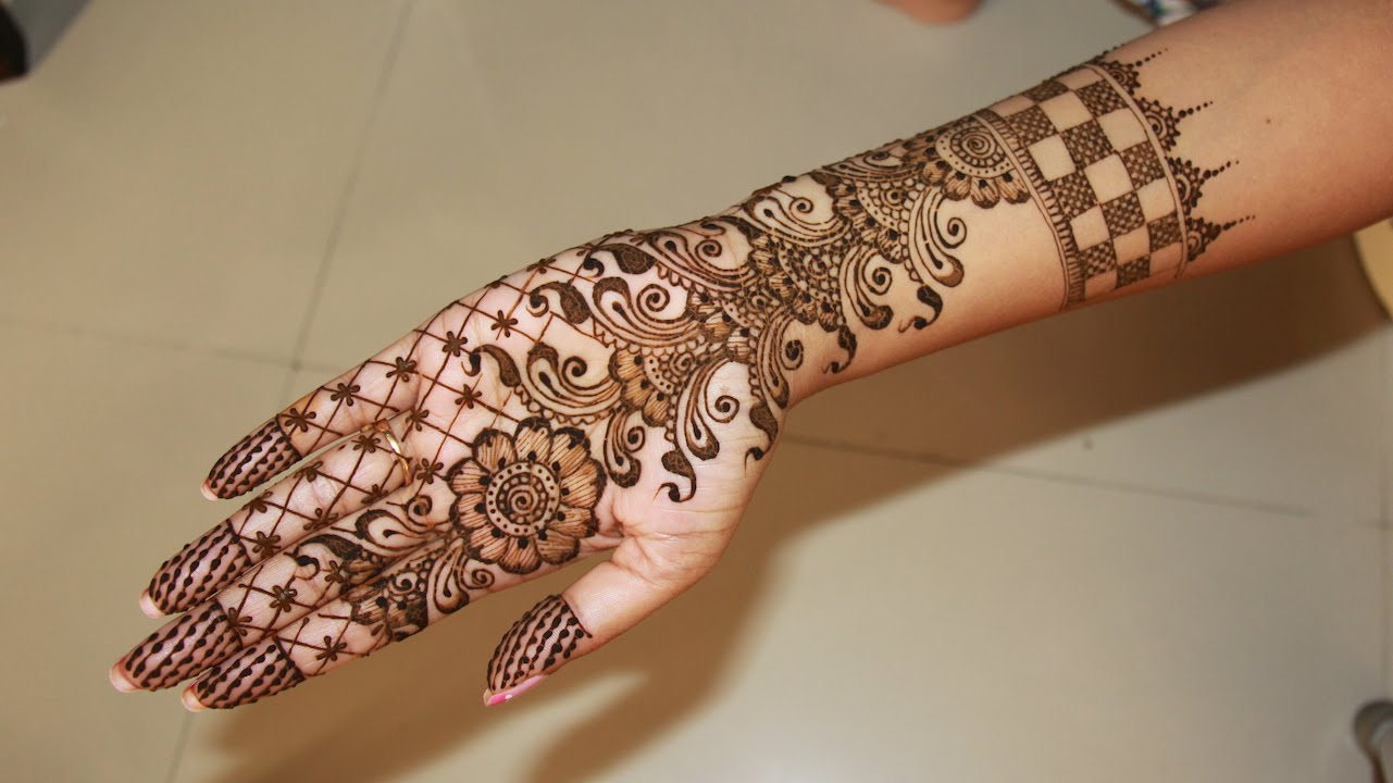 Elegant 20 Arabic Henna Mehndi Designs For Full Hands With Photos