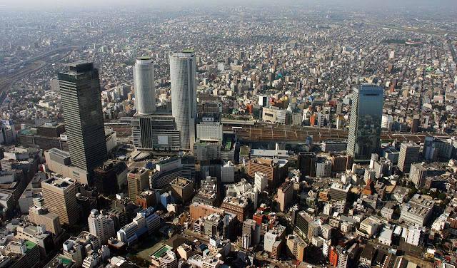 Foto aérea de Nagoia - Japão