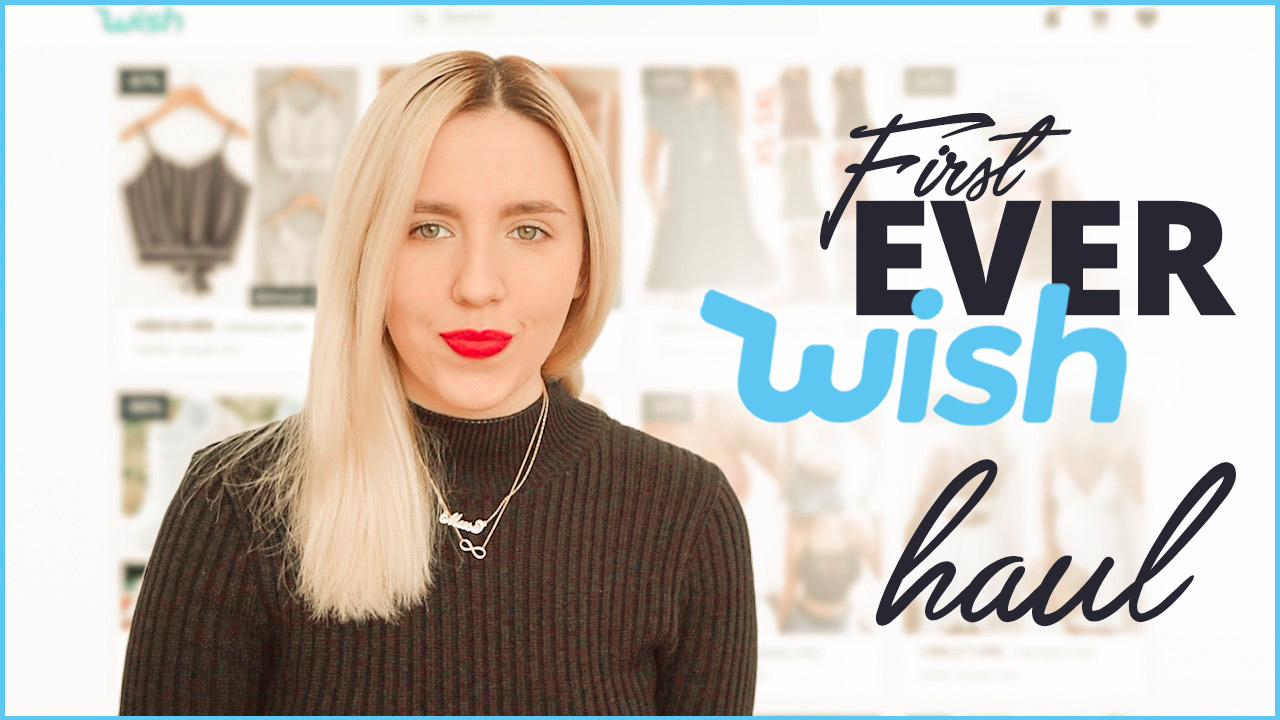 First Wish haul video thumbnail by Fashion in the Air