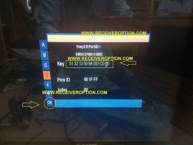 FRETEK HD MINI-2 RECEIVER BISS KEY OPTION