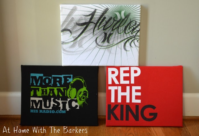 Easy T-Shirt Canvas Art from At Home With The Barkers