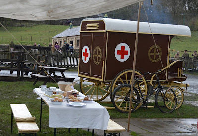 A Bus Trip to the Horses at War Event at Beamish - vintage military ambulance